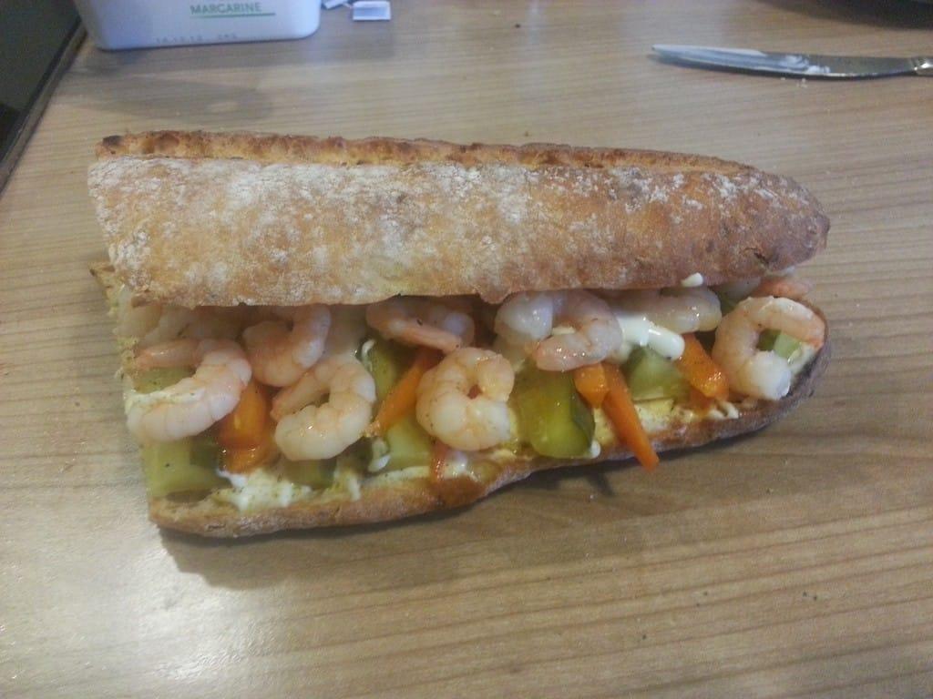 vietnamesisches Garnelensandwich