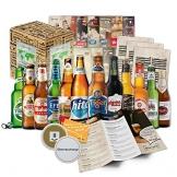 BIERE DER WELT (inkl. Geschenkverpackung + Bier Info + Tasting Anleitung + Bierdeckel), Geburtstagsgeschenk für Männer, Weihnachtsgeschenk für Freund, Geschenk zum 18, Geschenkidee für Weihnachten