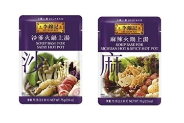 LEE KUM KEE Hot Pot Sichuan Würzpaste 2er Pack, 2 x 70g (hot & mild) -