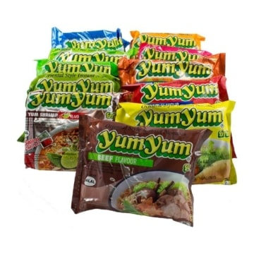 30er Yum Yum Instant Nudelsuppen Mix 1,8kg – 13 Sorten Mix -