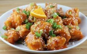 Thịt gà nấu cam – Zartes Hühnerfleisch in Orangensauce
