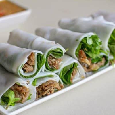 Banh Uot Thit Nuong – Rindfleisch in Reispapier-Wraps